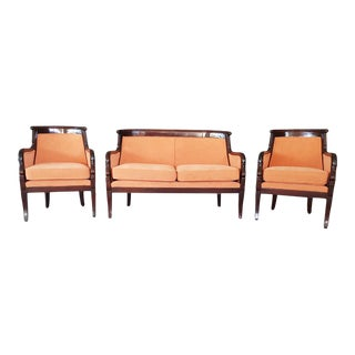 French Napoleon Empire Style Parlor Set - 3 Pieces For Sale