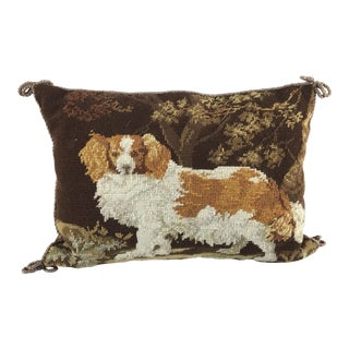 Cavalier King Charles Spaniel Dog Neeedlepoint Pillow For Sale