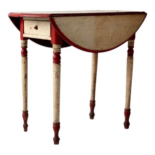 Antique Drop Leaf Accent Table For Sale