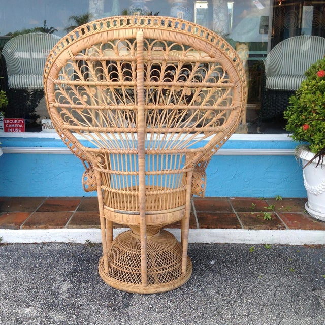 """Boho Chic """"Emmanuelle"""" Style """"Peacock"""" Chair For Sale - Image 3 of 11"""