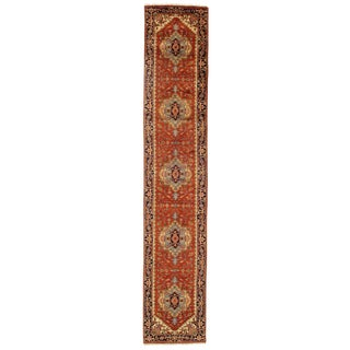 """Traditional Pasargad N Y Fine Serapi Design Hand-Knotted Rug - 2'7"""" X 14'"""
