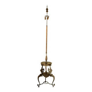 Early 20th Century Japanese Bronze Floor Lamp For Sale
