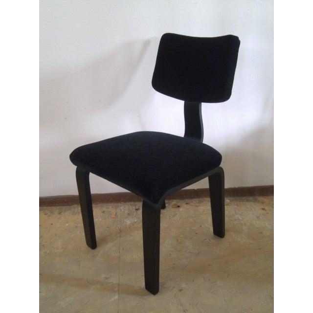 Vintage Black on Black Mohair Thonet Chair - Image 2 of 8