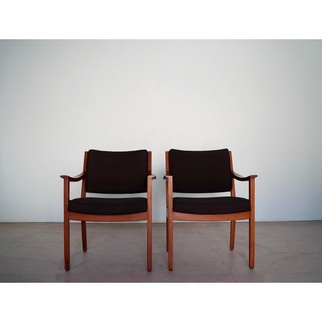 We have a pair of original 1960's Mid-century Modern armchairs for sale. They were manufactured by Gunlocke in the 60's,...