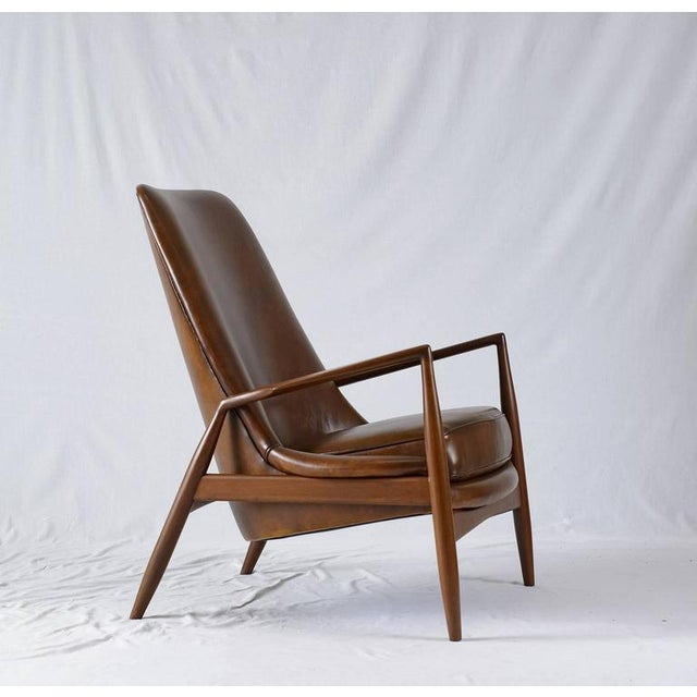"""1950s Ib Kofod-Larsen High Back """"Seal"""" Chair For Sale - Image 5 of 10"""