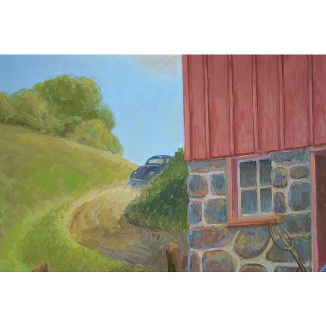 """Randall Berndt """"The Bachelor Farmer"""" Painting on Board For Sale - Image 4 of 9"""