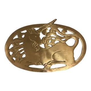 Mid-Century Brass Unicorn Trivet