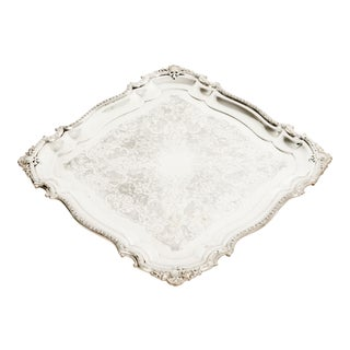 English Sheffield Silver Plated Barware / Serving Tray For Sale