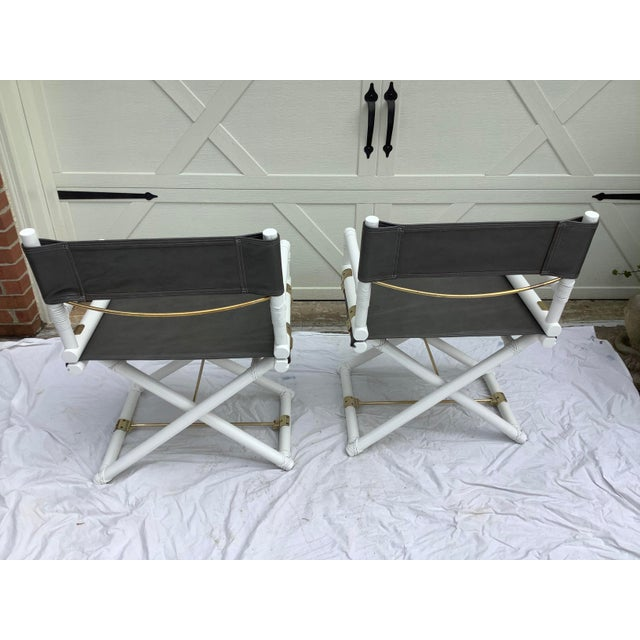 White McGuire Directors Chairs, 2 For Sale - Image 8 of 11