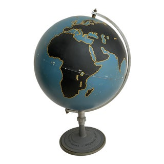 1940's Large Scale Chalk Board Globe by Denoyer Geppert Company For Sale