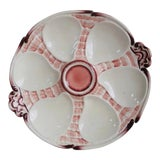 Image of Majolica Oyster Plate Sarreguemines, Circa 1900 For Sale