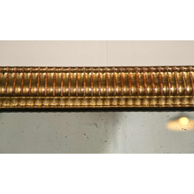 Gilt Gold Fluted Border Mirror - Image 3 of 4