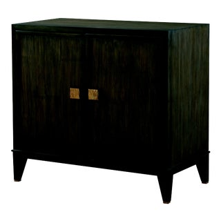 Century Furniture Carlyle 2 Door Chest, Mink Grey Finish For Sale