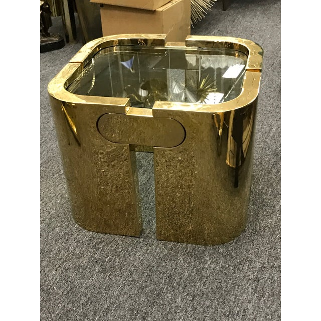 AMAZING GOLDEN BRONZE MODERNIST PUZZLE TABLE For Sale - Image 10 of 11