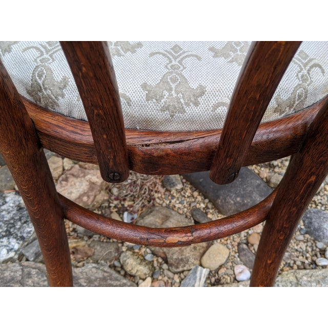 Thonet Antique Signed/Marked Michael Thonet Bentwood Beech Bistro Captains Chair For Sale - Image 4 of 13