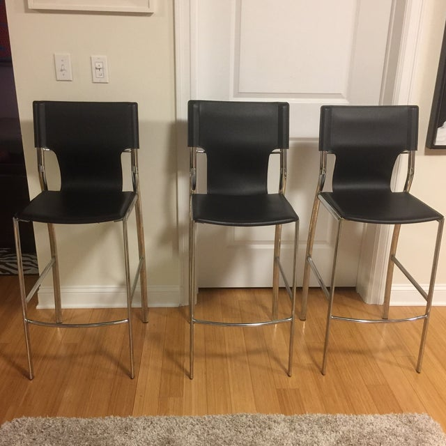 Jensen-Lewis Bar Stools - Set of 3 - Image 2 of 9