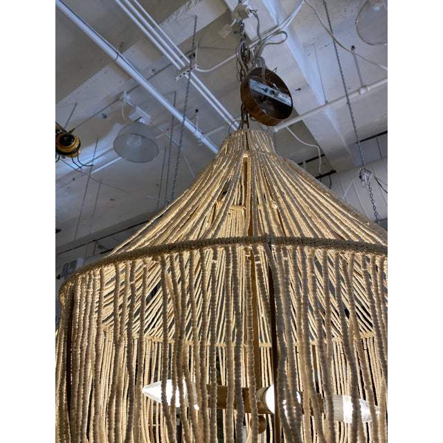 Cream Made Goods CoCo Bead Aida Chandelier For Sale - Image 8 of 10