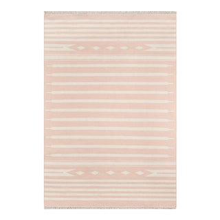 "Erin Gates by Momeni Thompson Billings Pink Hand Woven Wool Area Rug - 3'6"" X 5'6"" For Sale"