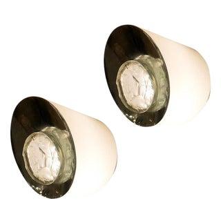 Rare Pair of Fontana Arte Wall Lights Model 2466 For Sale