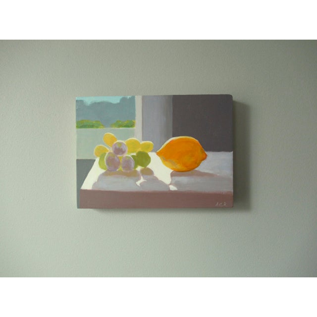 Contemporary Grapes and a Lemon by Anne Carrozza Remick For Sale - Image 3 of 5