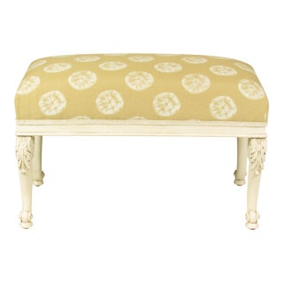 19th C. French Painted Bench For Sale