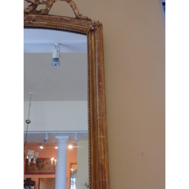 French 19th Century Louis XVI Gilt Mirror For Sale - Image 3 of 7