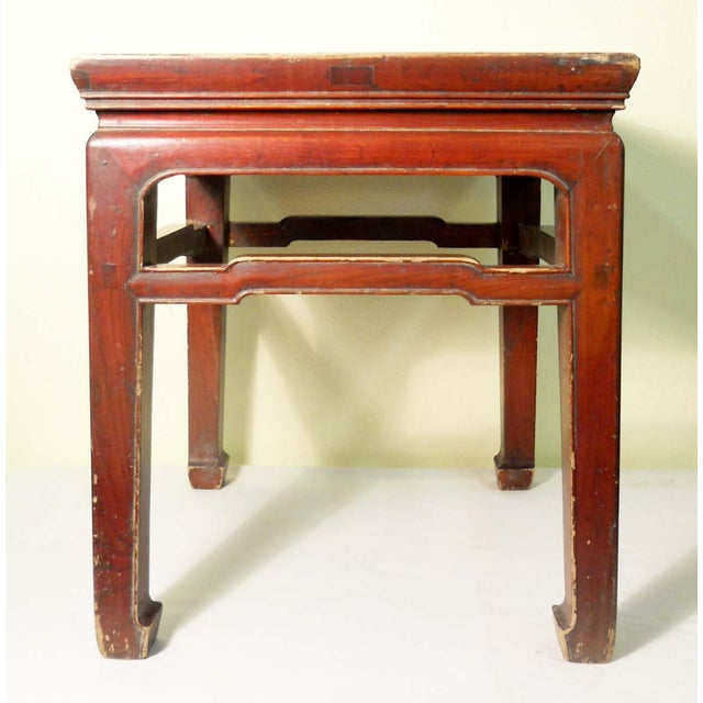 Mid 19th Century Antique Ming Meditation Bench / Side Table For Sale - Image 4 of 11