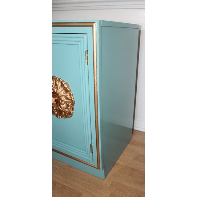 Hollywood Regency Lacquered Credenza or Sideboard For Sale - Image 10 of 11