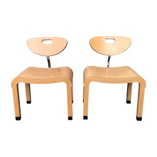 "1990s Ruud Jan Kokke for Kembo Birch Wood ""Moment"" Chairs- A Pair For Sale"