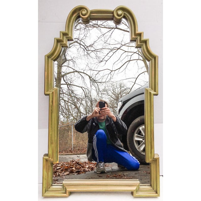 Vintage LaBarge-Style Scroll Arch Mirror - Image 2 of 7