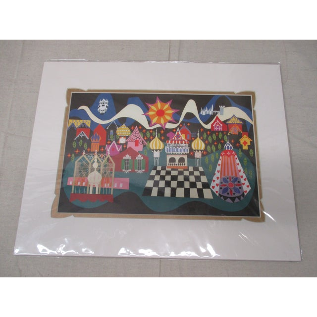 American Vintage Walt Disney/Mary Blair Prints With Custom Matting #4 For Sale - Image 3 of 6