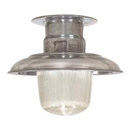 Polished Aluminum Ceiling Light For Sale