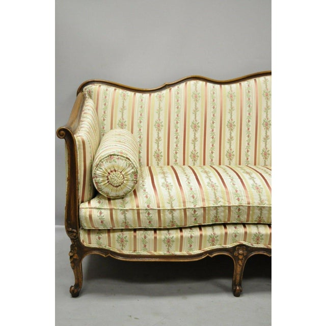 Early 20th Century Early 20th C. Vintage French Louis XV Provincial Style Sofa For Sale - Image 5 of 12