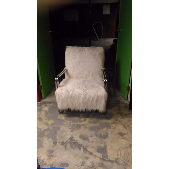 Contempory Faux fur chrome chair. Very beautiful & comfortable.