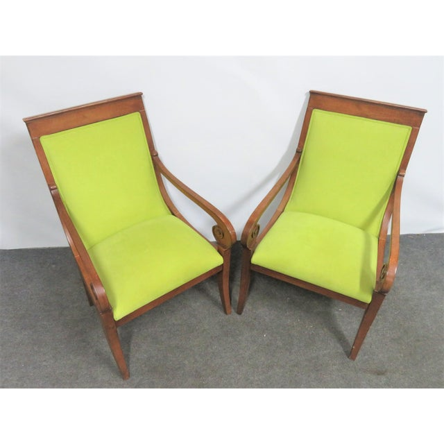Ethan Allen Ethan Allen Regency Style Chairs- a Pair For Sale - Image 4 of 11