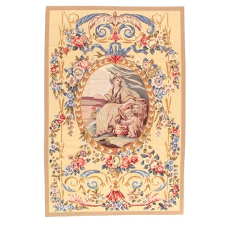 Pasargad NY Modern Aubusson Rugs - 6' x 9' For Sale