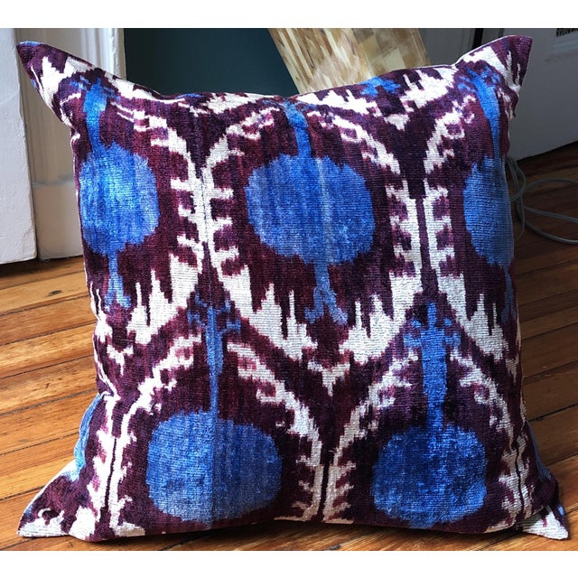 Early 21st Century Boho Chic Purple and Teal Pillows - a Pair For Sale - Image 5 of 6