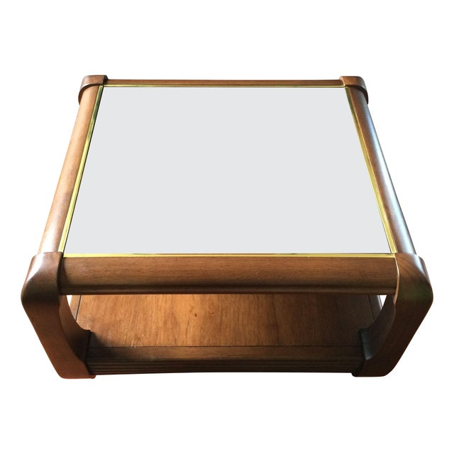 Smoked Mirror Side Table - Image 1 of 5
