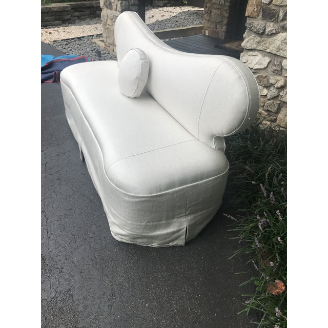 Contemporary Century Furniture Curvy Settee or Love Seat For Sale - Image 3 of 11