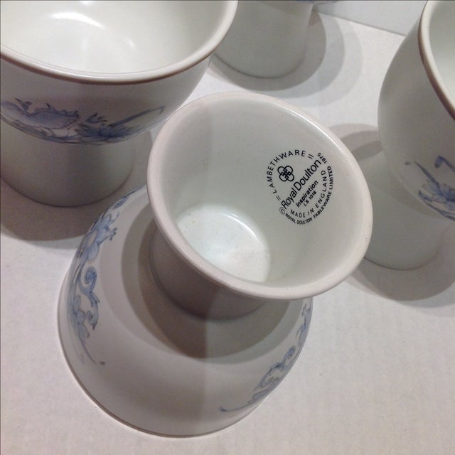Royal Doulton Blue Flower Goblets - 6 For Sale In Chicago - Image 6 of 6