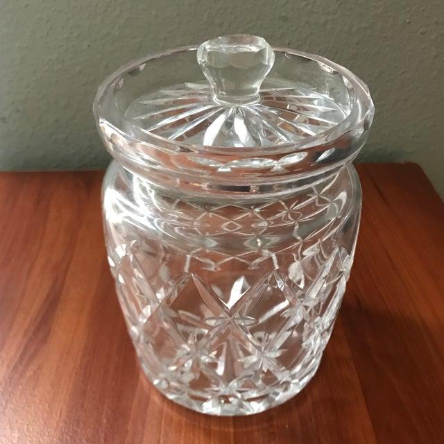 Hollywood Regency Vintage Tiffany & Co Crystal Lidded Biscuit Jar For Sale - Image 3 of 9