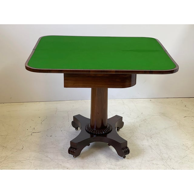19th Century English Regency Rosewood Games Table For Sale - Image 9 of 13
