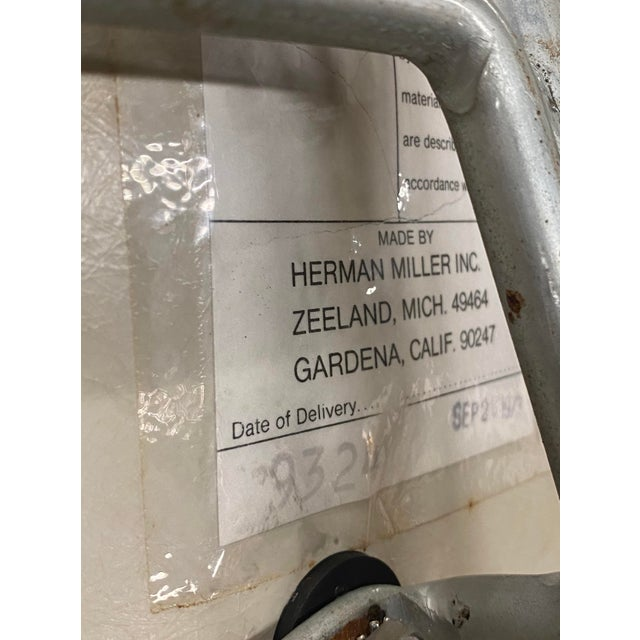 Vintage Herman Miller Chairs Upholstered Fiberglass Chairs Signed For Sale - Image 9 of 10