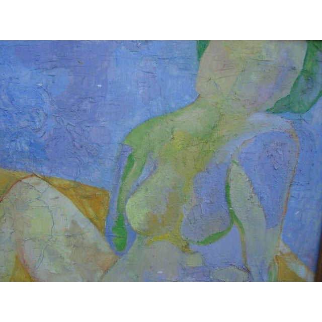 Exquisite Abstract Female in Repose Painting By J.Dahli - Image 2 of 6