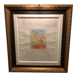 Peter Max Umbrella Man (Angel/Profile) Classic Suite Etching For Sale