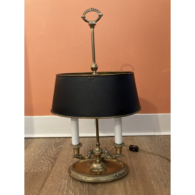 Metal 1960s Brass Bouillotte Lamp For Sale - Image 7 of 7