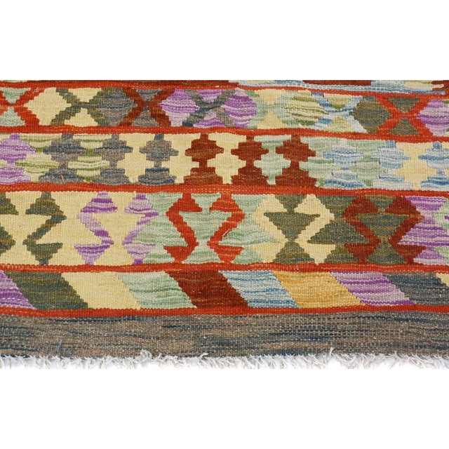 2010s Arya Stan Blue/Gray Wool Kilim Rug - 4'10 X 6'7 A9264 For Sale - Image 5 of 7