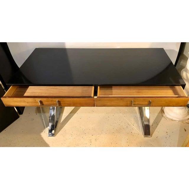 Metal Mid-Century Modern Milo Baughman Vanity Desk For Sale - Image 7 of 13