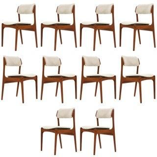 "Erik Buch ""Model 49"" Teak Dining Chairs Set of Ten"