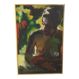 Vintage Nude Painting by Mercado For Sale